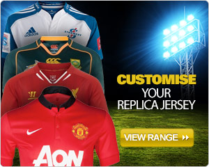 Customise your replica jersey
