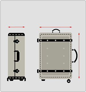 Luggage sizing