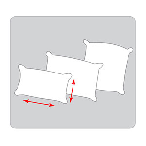 Pillows & pillowcases sizing